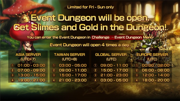 Brown Dust Official Cafe - EN(GL/EU): [Notice] Event Dungeon